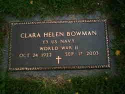 Clara Helen <I>Short</I> Bowman