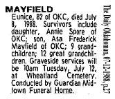 Eunice <I>Oliver</I> Mayfield