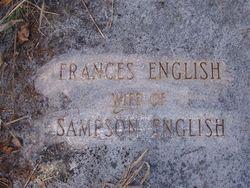 """Frances """"Fanny"""" <I>Hardison</I> English"""
