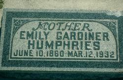 Emily <I>Gardiner</I> Humphries