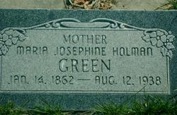 Maria Josephine <I>Holman</I> Green