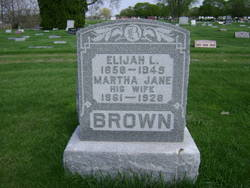 Martha Jane <I>Davis</I> Brown
