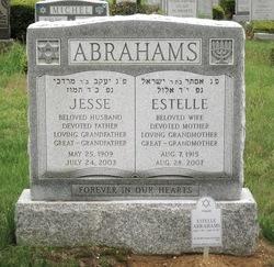 Estelle <I>Sheikowitz</I> Abrahams