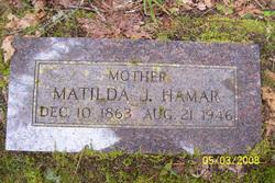 """Matilda Jeanette """"Tillie"""" <I>Owen</I> Hamar"""