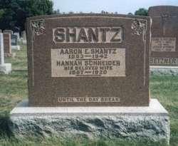 Hannah <I>Schneider</I> Shantz