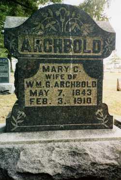 Mary Cathrine <I>Somers</I> Archbold