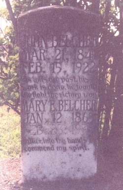 "Mary E ""Mollie"" <I>Hicks</I> Belcher"