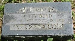"""Ellen Elizabeth """"Betty"""" <I>Kitchens</I> Boyd"""