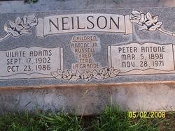 Vilate Mary Ann <I>Adams</I> Neilson