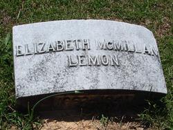 Margaret Elizabeth <I>McMillan</I> Lemon