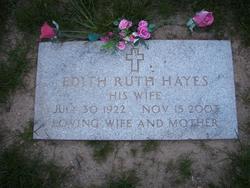 Edith Ruth <I>MacEntee</I> Hayes