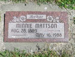 Minnie Rebecca <I>Cook</I> Mattson