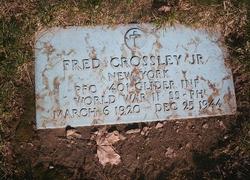 PFC Fred Crossley Jr.