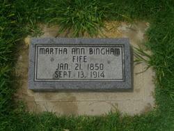 Martha Ann <I>Bingham</I> Fife