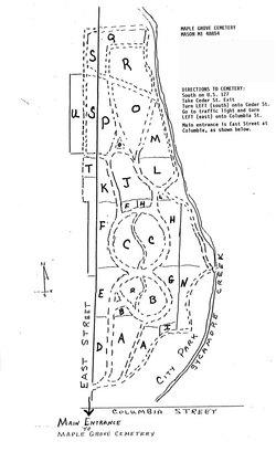 Maple Grove Cemetery in Mason, Michigan - Find A Grave Cemetery on map of mason ohio, map of highlands ranch co, dart container mason mi, map of berkeley sc, cherry st mason mi,