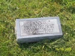 "Frances ""Fannie"" <I>Furry</I> Broadhurst"