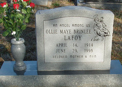 Ollie Maye <I>Brinlee</I> LaFoy