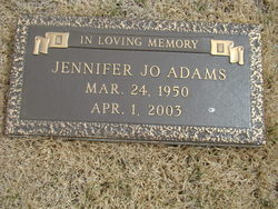 Jennifer Jo <I>Slater</I> Adams