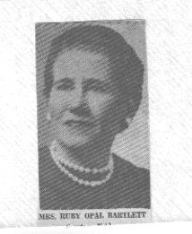 Ruby Opal <I>Sadler</I> Bartlett