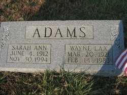 Wayne Lax Adams