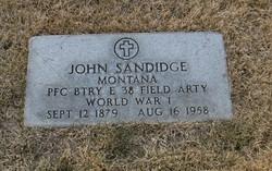 "PFC John ""Johnny"" Sandidge"