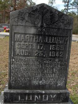 Martha J <I>Geohagan</I> Lundy