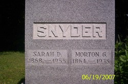 Sarah Delila <I>Dunn</I> Snyder