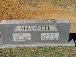 Alice Lula <I>Dunaway</I> Alexander
