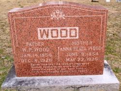 Anna Eliza <I>Anthony</I> Wood