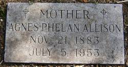Agnes <I>Phelan</I> Allison