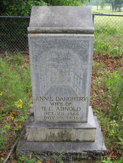 Annie <I>Daughtry</I> Arnold