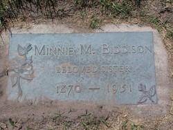 Minnie E. <I>Merrell</I> Biddison