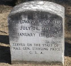 Col Edward Charles McDonald