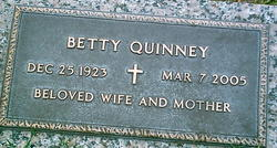 "Bertha Vey ""Betty"" <I>Watkins</I> Quinney"