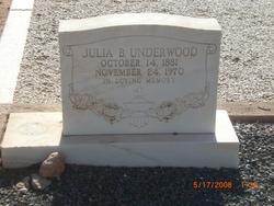 """Julia Boone """"Julie"""" <I>Kennedy</I> Underwood"""
