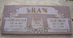 Lillan <I>Haycock</I> Shaw