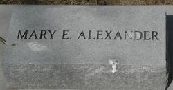 Mary E <I>Brock</I> Alexander