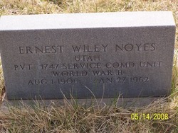 Pvt Ernest Wiley Noyes