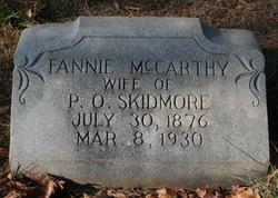 Fannie <I>McCarthy</I> Skidmore