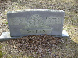 Myrtle E. <I>Solley</I> Watts