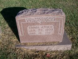 Emma A <I>Gibson</I> Asher