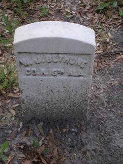 Capt W. J. Bethune
