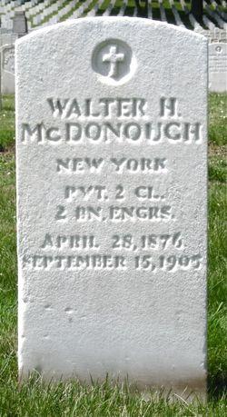 Walter H McDonough