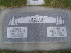 Amelia Ann Eleanor <I>Harwood</I> Nash