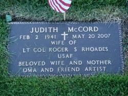Judith <I>McCord</I> Rhoades