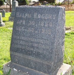 Ralph Rogers 1850 1915 Find A Grave Memorial
