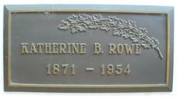Katherine Jemima <I>Bumsted</I> Rowe