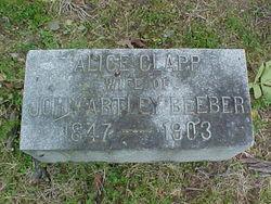 Alice Amanda <I>Clapp</I> Beeber