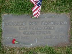 Maj Donald Roy Backlund