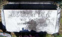 Lois <I>Broome</I> Bailey